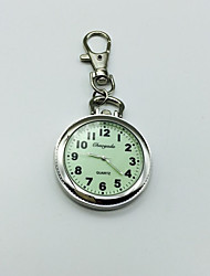 Men's Women's Keychain Watch Lapel Watch Quartz Alloy Band Silver