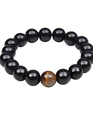 cheap -Men's Women's Turquoise Strand Bracelet - Vintage Basic Natural Circle Black Bracelet For Christmas Party Casual
