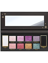 preiswerte -10 Lidschattenpalette Trocken Schimmer Lidschatten-PaletteSmokey Makeup Alltag Make-up Halloween Make-up Party Make-up Feen Makeup Cateye