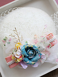 cheap -Tulle / Lace / Fabric Fascinators / Hats with 1 Wedding / Special Occasion / Birthday Headpiece