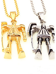 baratos -Homens Pingentes Fio Único Forma Geométrica Brinquedo TOY Aço Titânio Prata Chapeada Chapeado Dourado Metálico Personalizada Fashion Rock
