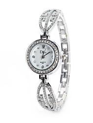 baratos -Mulheres Relógio de Pulso / Simulado Diamante Relógio Chinês imitação de diamante Lega Banda Amuleto / Vintage / Casual Prata / Dourada / Ouro Rose / Um ano / TY 377A