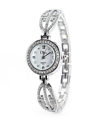 cheap -Women's Quartz Simulated Diamond Watch Wrist Watch Chinese Imitation Diamond Alloy Band Charm Vintage Casual Dress Watch Elegant Fashion