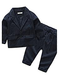 Boys' Stripe Sets,Cotton Fall Long Sleeve Clothing Set