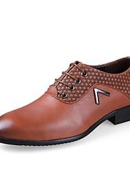 Недорогие -Для мужчин обувь Натуральная кожа Наппа Leather Кожа Весна Осень Удобная обувь Формальная обувь Обувь для дайвинга Туфли на шнуровке