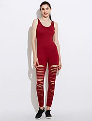Dámské Jednobarevné Na běžné nošení Sexy Kombinéza Upnuté,Denní Klub Bez rukávů Kulatý Léto Polyester