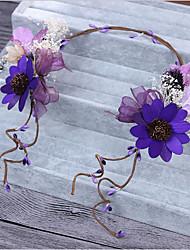Недорогие -Тюль Шифон Плетеные изделия Ткань Шелк Сеть Диадемы Ободки Цветы Заставка