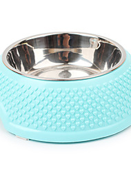 cheap -Cat Dog Bowls & Water Bottles Pet Bowls & Feeding Blushing Pink Blue Yellow
