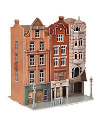 abordables -Puzzles 3D Puzzle Maquette en Papier Bâtiment Célèbre Architecture 3D Articles d'ameublement Bois Naturel Unisexe Cadeau