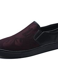 cheap -Men's Shoes PU Summer Light Soles Loafers & Slip-Ons Water Shoes for Casual White Black Red