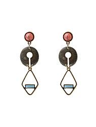 abordables -Mujer Largo Pendientes colgantes - Personalizado, Vintage, Bohemio Azul Para Boda / Fiesta / Graduación