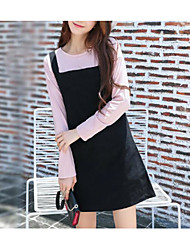 cheap -Women's Daily Going out Cute Casual Sexy A Line Loose Sheath Dress,Solid Strap Above Knee Short Sleeves Cotton Linen Spring Summer High