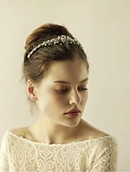 Imitation Pearl Rhinestone Alloy Tiaras Headpiece Elegant Style