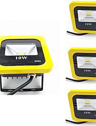 4pcs 10W Yellow Color Led Floodlight IP65 Warm/Cool White Waterproof Spotlight Outdoor Garden Lamp Floodlight Lighting AC85-265V
