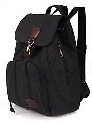 Недорогие -Жен. Мешки холст рюкзак для на открытом воздухе / Путешествия Синий / Черный / Кофейный
