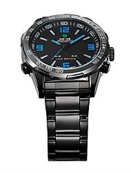 WEIDE Pánské Náramkové hodinky Křemenný Japonské Quartz LED Kalendář Chronograf Voděodolné Hodinky s dvojitým časem poplach Sportovní