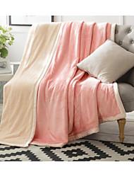 Недорогие -Фланель Однотонный Хлопчатобумажная ткань одеяла