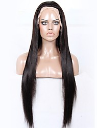 Недорогие -человеческие волосы Remy Необработанные натуральные волосы Бесклеевая сплошная кружевная основа Полностью ленточные Парик стиль Бразильские волосы Прямой Яки Парик 130% 150% 180% Плотность волос