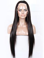Premier® Brazilian Unprocessed Human Virgin Hair Yaki Straight Glueless Full Lace Hair Wigs For Women