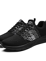 Men's Athletic Shoes Light Soles Knit Fall Winter Athletic Casual Outdoor Low Heel Gray Dark Blue Black Under 1in