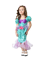 Princess Cinderella Mermaid Tail Fairytale One-Piece/Dress Kids Girls' Festival/Holiday Halloween Costumes Multicolor Halloween Carnival