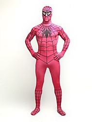 cheap -Super Heroes Spider Cosplay Costume Movie Cosplay Leotard/Onesie Bra Zentai Halloween Carnival Spandex Spandex Lycra Elastic