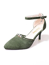 Da donna Tacchi Decolleté Estate Cashmere Casual Con diamantini A stiletto Nero Verde Rosa 7,5 - 9,5 cm