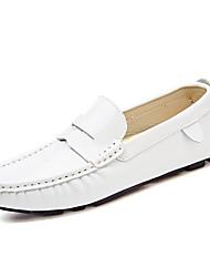 baratos -Homens sapatos Couro Envernizado Primavera / Outono Conforto Mocassins e Slip-Ons Preto / Vermelho / Azul