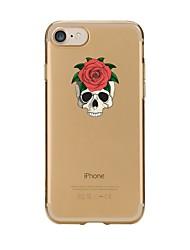 Недорогие -Чехол для iphone 7 6 черепа tpu мягкая ультратонкая задняя крышка чехол для iphone 7 плюс 6 6s плюс se 5s 5 5c 4s 4