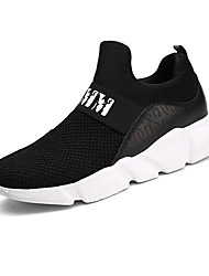 cheap -Men's Tulle Spring / Summer / Fall Comfort Sneakers Walking Shoes White / Black / Gray