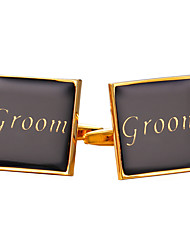cheap -Square Cut Golden Cufflinks Vintage Fashion Men's Women's Costume Jewelry