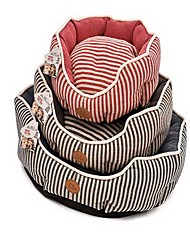 cheap -Dog Bed Pet Baskets Stripe Warm Soft Brown Red Blue For Pets