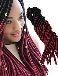 cheap -Crochet Soft 100% kanekalon hair Faux Locs Wig Dreads Locs Dreadlock Extensions Ombre Braiding Hair Synthetic 100% kanekalon hair