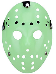 halloween porous jason killer masque lumineux vert horreur hockey cosplay carnaval mascarade costume costume de fête