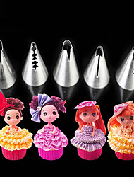 5pcs / set baby doll skirt Stainless Steel Icing Piping Nozzles Pastry Tips Fondant Cup Cake Baking Tool