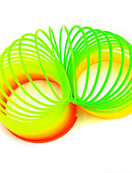 cheap -Slinky Toy Coiled Spring Toys Toys Round Novelty Eco-friendly DIY Rainbow light Plastics Not Specified 1 Pieces