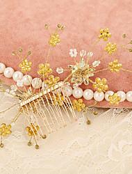 economico -pettini in lega di strass pettini a fiori stile femminile classico