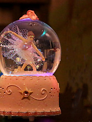 cheap -The girl dancing ballet music rotation snow globe music box music box birthday gift to send girls