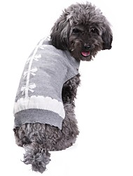 cheap -Cat Dog Coat Sweater Dog Clothes Party Casual/Daily Cosplay Keep Warm Wedding Christmas New Year's Bowknot Gray