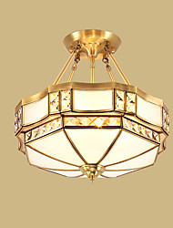 cheap -36 Traditional/Classic / Rustic/Lodge LED / Bulb Included Brass Metal Pendant Lights Living Room / Bedroom / Dining Room