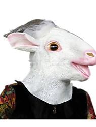 Недорогие -Маски на Хэллоуин Животная маска Игрушки Овечья шерсть клей Ужасы Куски Универсальные Подарок