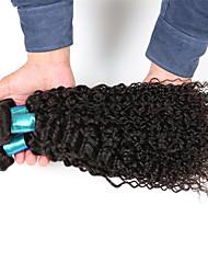 cheap -Kinky Curly Women Hairs 3 Bundles Hair Extensions 300g Brazilian Virgin Hair Weft Texture Kinky Curly 1 Year 3 Pieces hair weaves