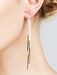 cheap -Women's Synthetic Diamond Tassel / Long Drop Earrings - Dainty, Statement, Luxury Gold / Silver For Christmas Gifts / Wedding / Anniversary