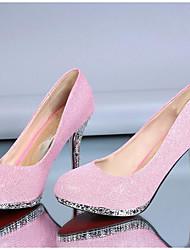 Damen High Heels Komfort Pumps Echtes Leder PU Herbst Winter Normal Weiß Silber Rot Rosa 10 - 12 cm