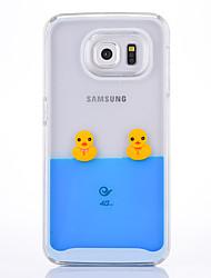 abordables -Étui pour samsung galaxy s6 s6 bord housse cloches cloche motif pc matériel étui téléphone mobile