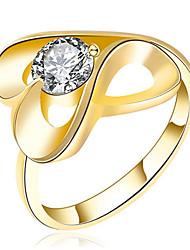 Women's Band Rings Cubic Zirconia Basic Love Sexy Fashion Personalized Cute Style Luxury Classic Elegant Zircon Alloy Geometric Jewelry