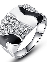 Per donna Per uomo Struttura dell'anello Fedine Anello StrassClassico Originale Amicizia Di tendenza Stile punk Adorabile Personalizzato