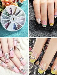 High Quality 3600pcs1.5mm Assorted Colors Round Glitter Nail Art Decorations Wheel Rhinestones For Nails 3D Nail Art Gems