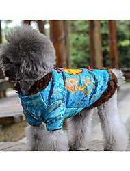 Недорогие -Собака Плащи Одежда для собак Теплый Новый год Буквы и цифры Желтый Синий Костюм Для домашних животных