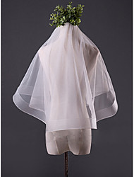 cheap -One-tier Pencil Edge Wedding Veil Fingertip Veils With Ruched Tulle